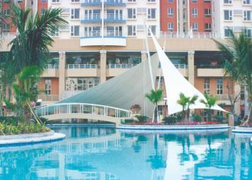 膜结构游泳池遮阳棚