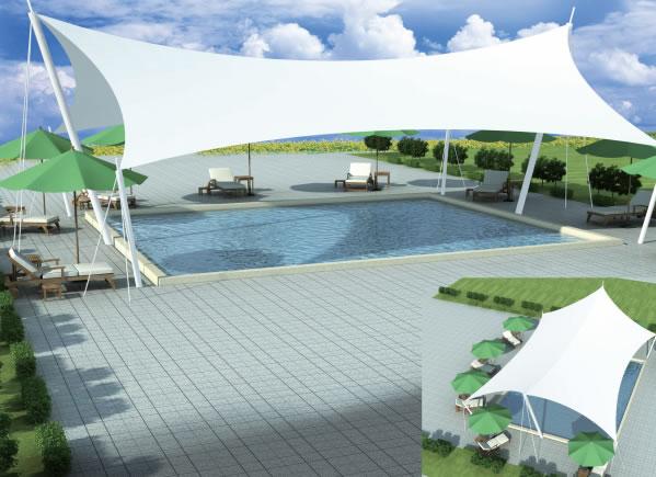 室外泳池遮阳棚