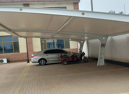 企业膜结构遮阳棚