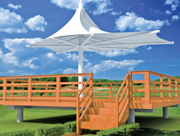 景观膜结构遮阳棚